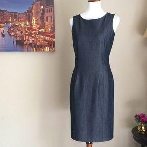 Calvin Klein Career Dress Denim Sheath sz 2